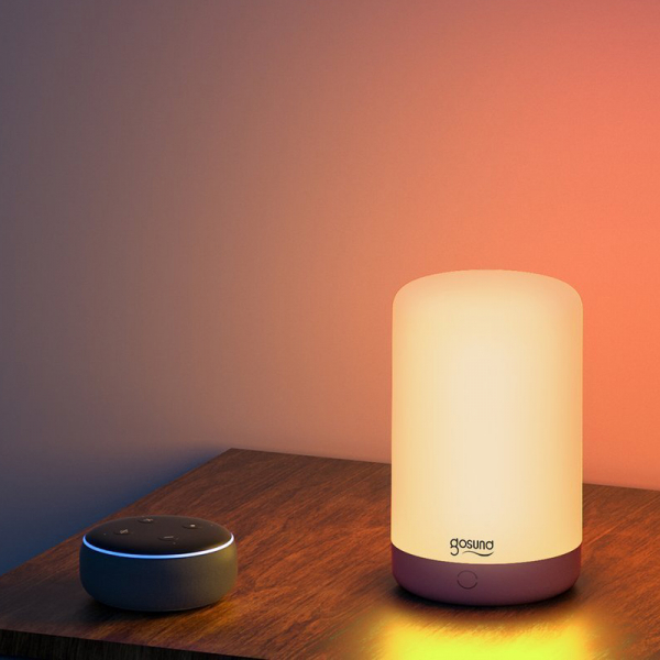 Lampa de noapte LED smart Gosund LB3 cu touch, RGBW, 16 milioane culori, Wi-Fi, ecosistem Smart Life, compatibila Google Home, Alexa 2