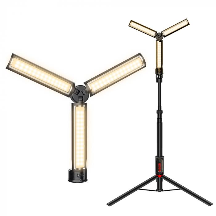 Lampa LED portabila multifunctionala Blitzwolf BW-SL7, 3 surse de lumina, 2850mAh, intensitate & temperatura culoare ajustabile [0]