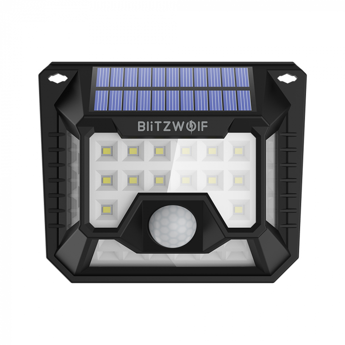 Set lampi solare Blitzwolf BW-OLT3, 2 buc, 1200mAh, 6500K, unghi iluminat  270°, senzor de miscare si de lumina, 200 lumeni, waterproof IP64 2