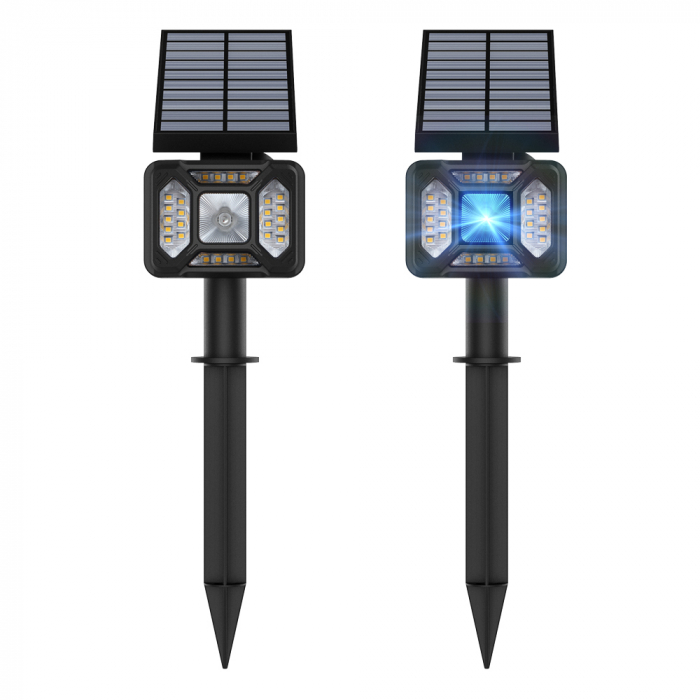 Lampa solara LED Blitzwolf OLT5 pentru gradina, auto RGB plus lumina alba, 1800mAh, waterproof IP44, pana la 15h autonomie 1
