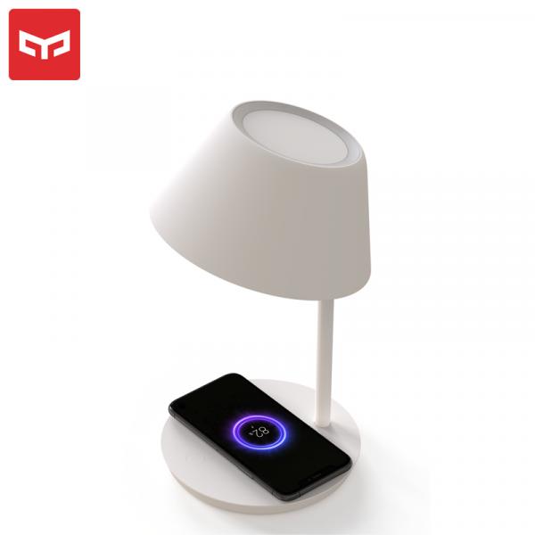 Lampa LED Yeelight Staria Bedside Lamp Pro, incarcare wireless device-uri, compatibila Google, Alexa, Homekit 1