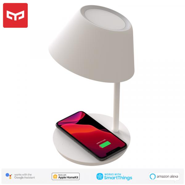 Lampa LED Yeelight Staria Bedside Lamp Pro, incarcare wireless device-uri, compatibila Google, Alexa, Homekit 0