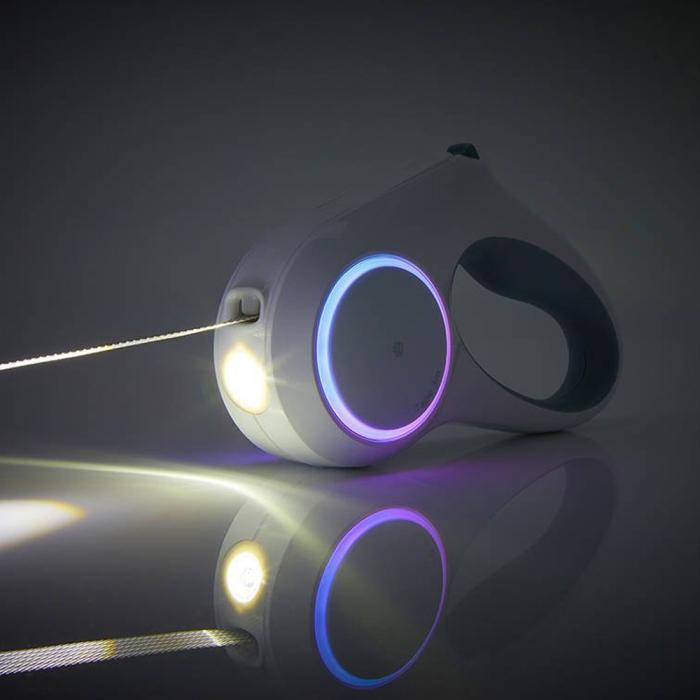Lesa automata PetKit GoShine pentru caini mici si mijlocii, 4.5m, 800mAh, lumina LED si lanterna incorporata [4]