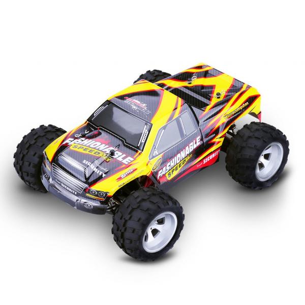 Masina RC Monster Truck cu telecomanda, viteza 35Km/h, 2.4 Ghz, scara 1:18, 750mAh, tractiune integrala 0