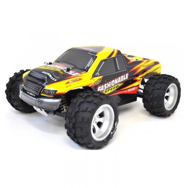 Masina RC Monster Truck cu telecomanda, viteza 35Km/h, 2.4 Ghz, scara 1:18, 750mAh, tractiune integrala 1