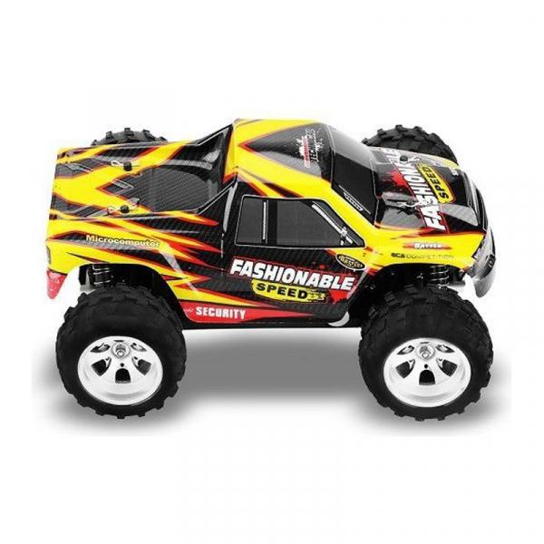 Masina RC Monster Truck cu telecomanda, viteza 35Km/h, 2.4 Ghz, scara 1:18, 750mAh, tractiune integrala 2