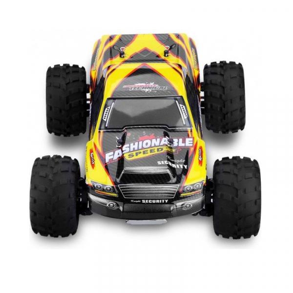 Masina RC Monster Truck cu telecomanda, viteza 35Km/h, 2.4 Ghz, scara 1:18, 750mAh, tractiune integrala 3