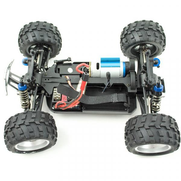 Masina RC Monster Truck cu telecomanda, viteza 35Km/h, 2.4 Ghz, scara 1:18, 750mAh, tractiune integrala 4