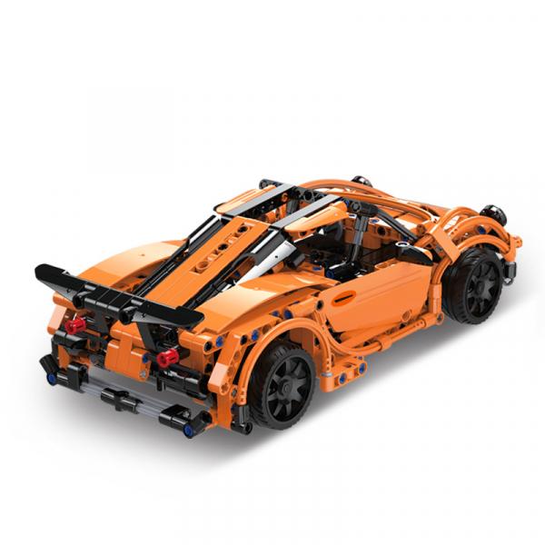 Set constructie masinuta curse RC Porsche 918, telecomanda 2.4Ghz, 421 piese compatibile LEGO, 400 mAh 1