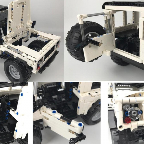 Set constructie Jeep Land Rover, masinuta cu telecomanda, 2,4 GHz, 533 piese compatibile LEGO, 400mAh 1