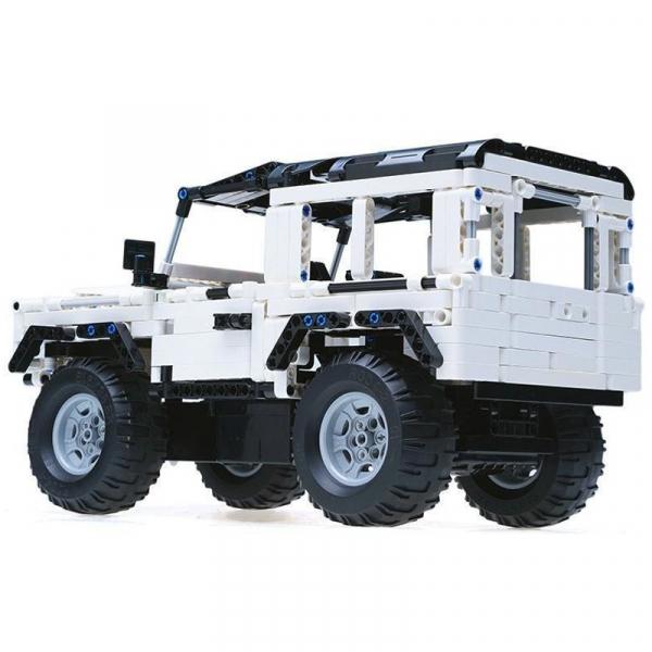 Set constructie Jeep Land Rover, masinuta cu telecomanda, 2,4 GHz, 533 piese compatibile LEGO, 400mAh 2