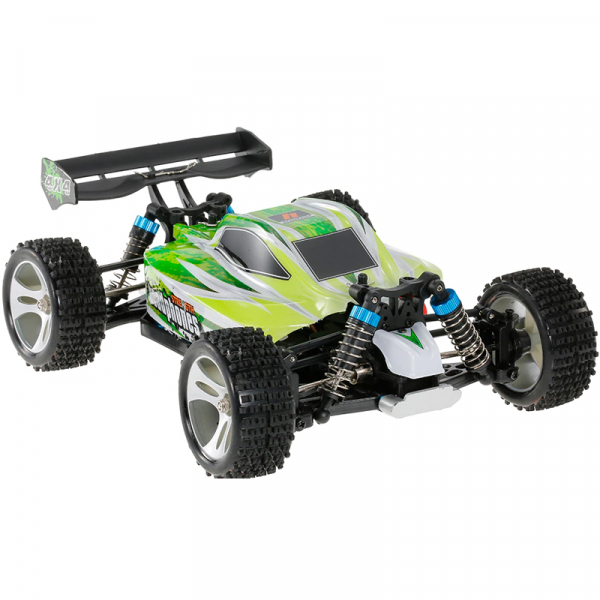 Masinuta RC cu telecomanda BUGGY Off Road, viteza 70Km/h, 2.4 Ghz, scala 1:18, 1400mAh, suspensii independente 2
