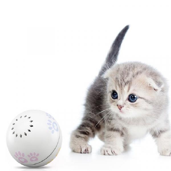 Minge robotica smart Petoneer, jucarie pentru pisici, 5 ore autonomie, incarcare USB, compartiment intern iarba pisicii 4