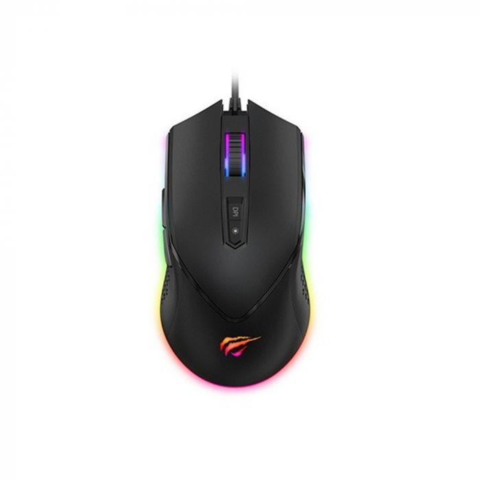 Mouse gaming Havit GAMENOTE MS814, RGB, ajustabil 1000-7000 DPI 1