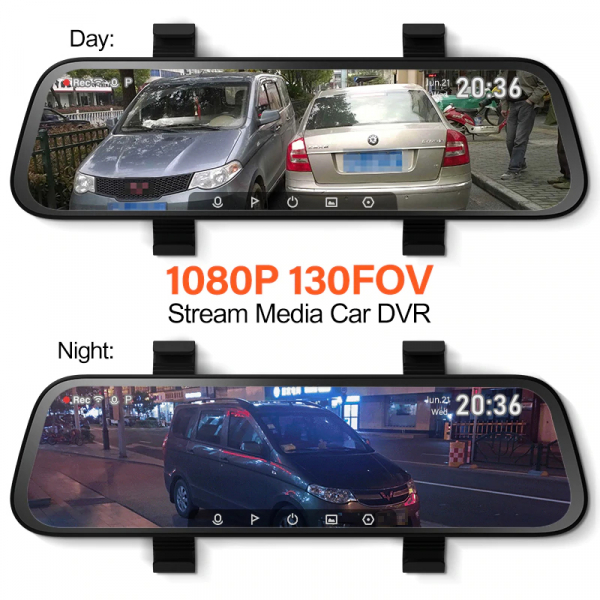 Oglinda retrovizoare cu camera 70mai Rearview Dash Cam Wide, display 9.35'', Full-HD 1080p, FOV 130°, varianta EU 2020 5