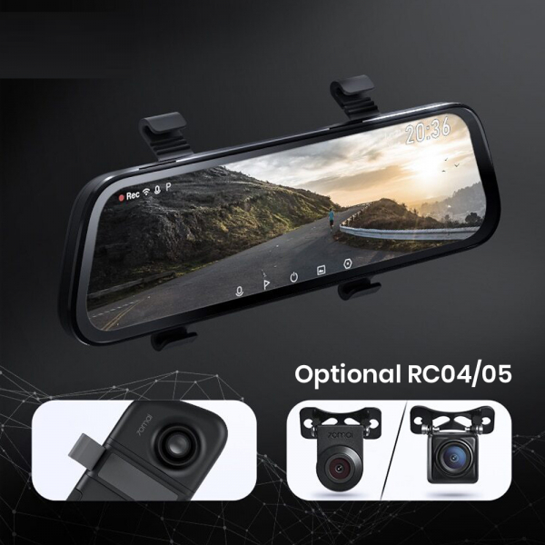 Oglinda retrovizoare cu camera 70mai Rearview Dash Cam Wide, display 9.35'', Full-HD 1080p, FOV 130°, varianta EU 2020 2