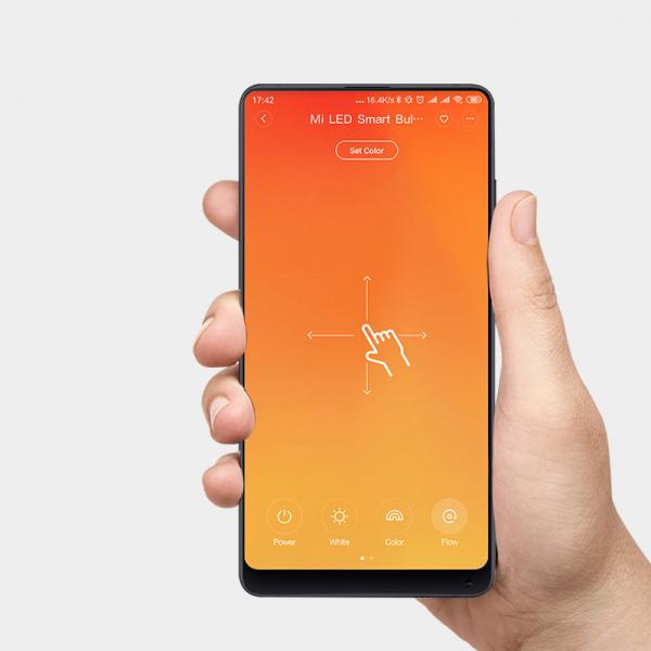Pachet 2 becuri EU LED Xiaomi RGBW, 800 lumeni, 16mil culori, WiFi, 10W, compatibil Google, Alexa, Homekit [2]