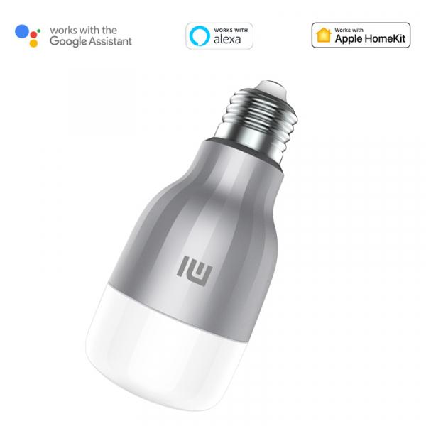 Pachet 2 becuri EU LED Xiaomi RGBW, 800 lumeni, 16mil culori, WiFi, 10W, compatibil Google, Alexa, Homekit [1]