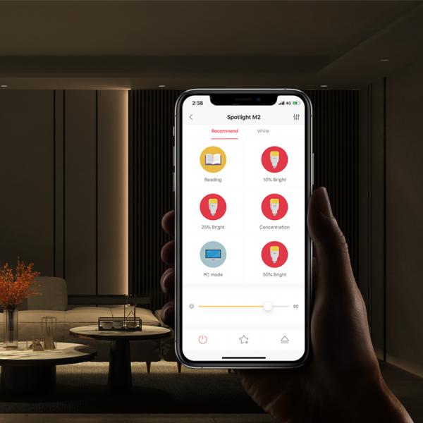 Pachet iluminat inteligent cu spoturi Yeelight M2 PRO 5 in 1, BLE Mesh, consola inclusa, compatibil Apple Homekit, Google Home, Alexa, SmartThings 5