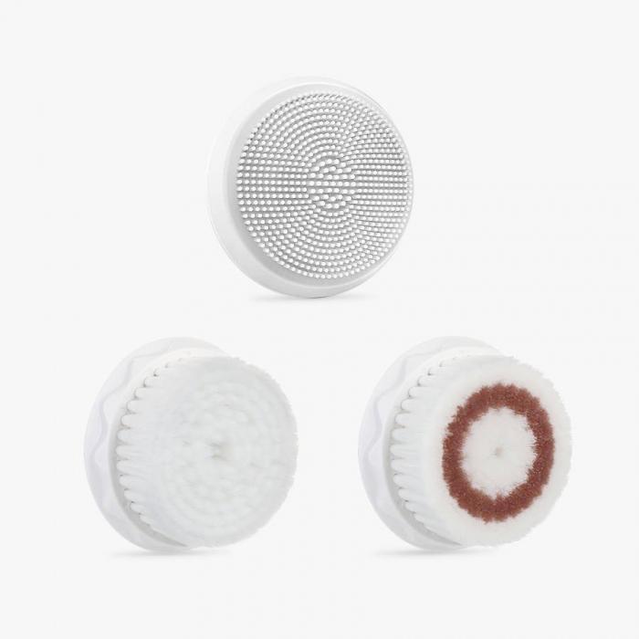 Perie pentru curatare faciala Liberex Egg 3 in 1 cu vibratii ultrasonice, waterproof IPX6, 30 zile autonomie, alba [4]