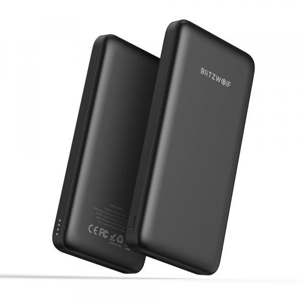 Power Bank Blitzwolf P9, 10000mAh, 18W, QC3.0, PD3.0, Type-C, USB A, Micro USB cu fast charging 3