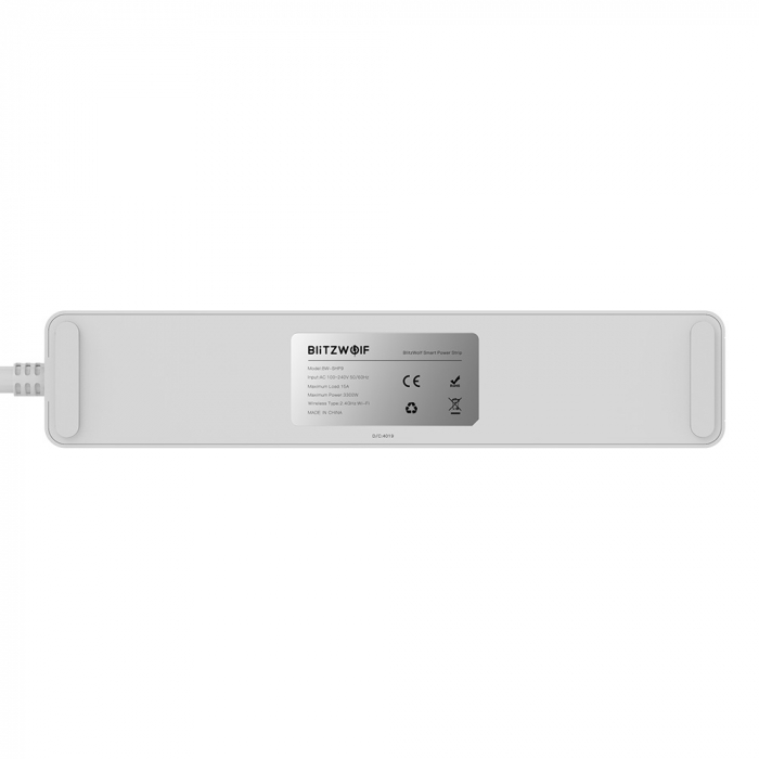Prelungitor smart Blitzwolf SHP9 EU, WiFi 2.4Ghz, 3300W, 15A, 3 prize, dual USB 2.4A, compatibil Smart Life, Google Home, Alexa 3