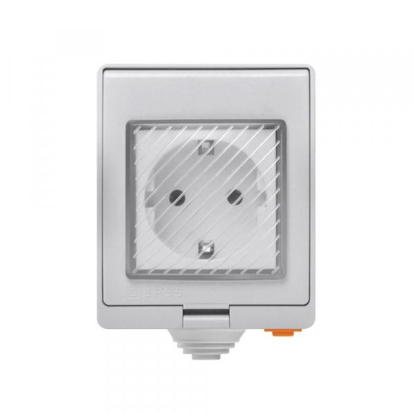 Priza inteligenta Sonoff S55, rezistenta la apa IP55, pentru exterior, control de la distanta prin wi-fi, 16A 0