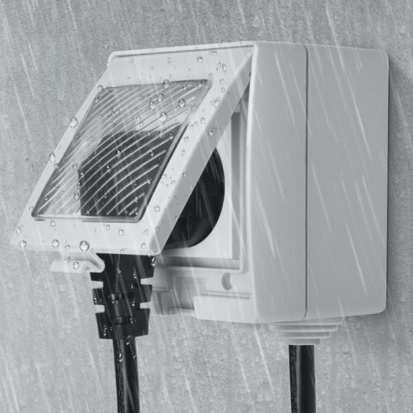 Priza inteligenta Sonoff S55, rezistenta la apa IP55, pentru exterior, control de la distanta prin wi-fi, 16A 3
