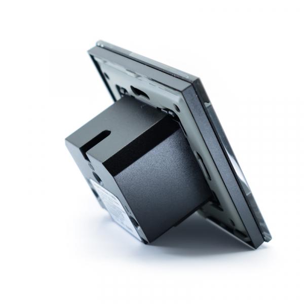 Priza inteligenta Vhub, rama din sticla, Wireless 2.4GHz, 16A, cu protectie, compatibila Google & Alexa, negru 3