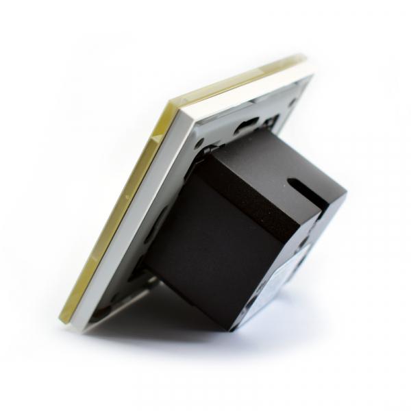 Priza inteligenta Vhub, rama din sticla, Wireless 2.4GHz, 16A, cu protectie, compatibila Google & Alexa, gold 5