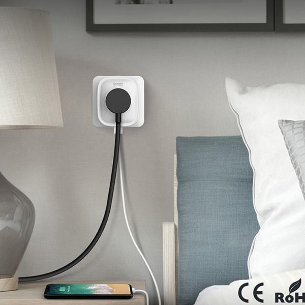 Priza smart Gosund, WiFi 2.4GHz, 2 x USB, acces de la distanta, 16A & 3680W, compatibila Smart Life, Google Home, Alexa [3]