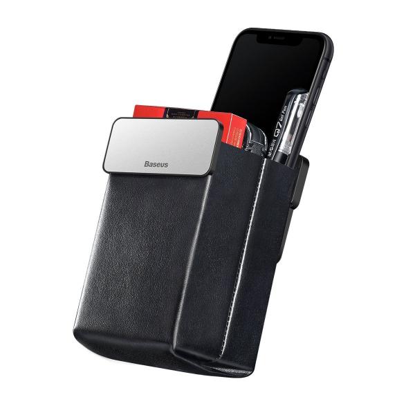 Rack auto Baseus Magic pentru depozitare obiecte, inchidere magnetica, adeziv 3M, silver 0
