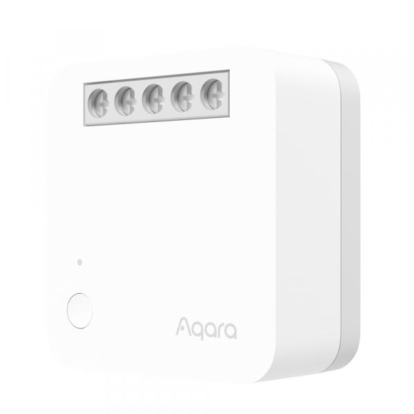 Releu Aqara T1 smart cu nul, versiune europeana, un singur canal, monitorizare consum, ZigBee 3.0, compatibil Google Home, HomeKit 0