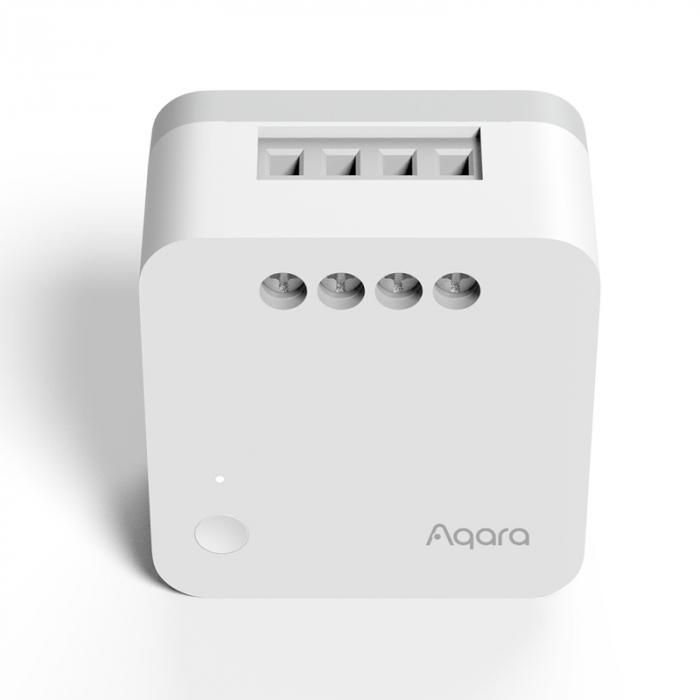 Releu Aqara T1 smart fara nul, versiune europeana, monitorizare consum, ZigBee 3.0, compatibil Google Home, HomeKit 2