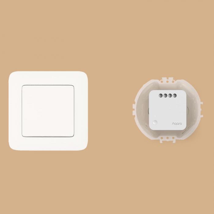 Releu Aqara T1 smart fara nul, versiune europeana, monitorizare consum, ZigBee 3.0, compatibil Google Home, HomeKit 3