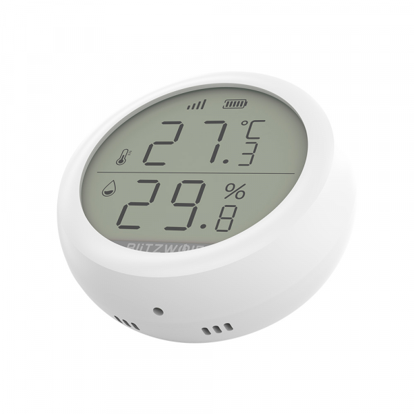 Senzor Blitzwolf masurare umiditate, temperatura in timp real cu afisaj digital, ZigBee, display LCD, ecosistem Smart Life 0
