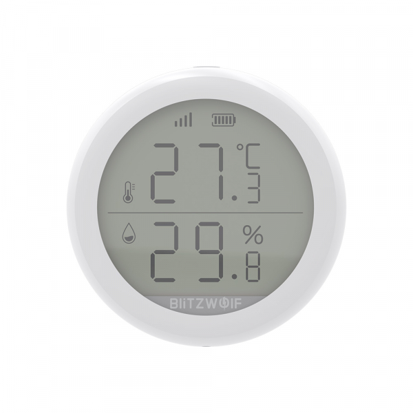 Senzor Blitzwolf masurare umiditate, temperatura in timp real cu afisaj digital, ZigBee, display LCD, ecosistem Smart Life 1