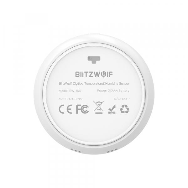 Senzor Blitzwolf masurare umiditate, temperatura in timp real cu afisaj digital, ZigBee, display LCD, ecosistem Smart Life 4