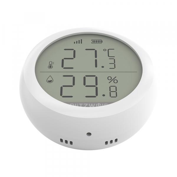 Senzor Blitzwolf masurare umiditate, temperatura in timp real cu afisaj digital, ZigBee, display LCD, ecosistem Smart Life 2