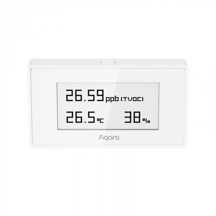 Senzor cu display E-ink Aqara TVOC EU, ZigBee 3.0, monitorizare umiditate, temperatura, calitate aer, compatibil Homekit, Google Home, IFTTT [2]