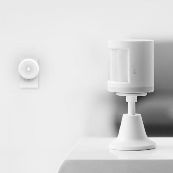 Senzor de miscare smart Aqara, unghi detectie 170⁰, suport inclus, rotatie 360, ZigBee, versiune europeana 4