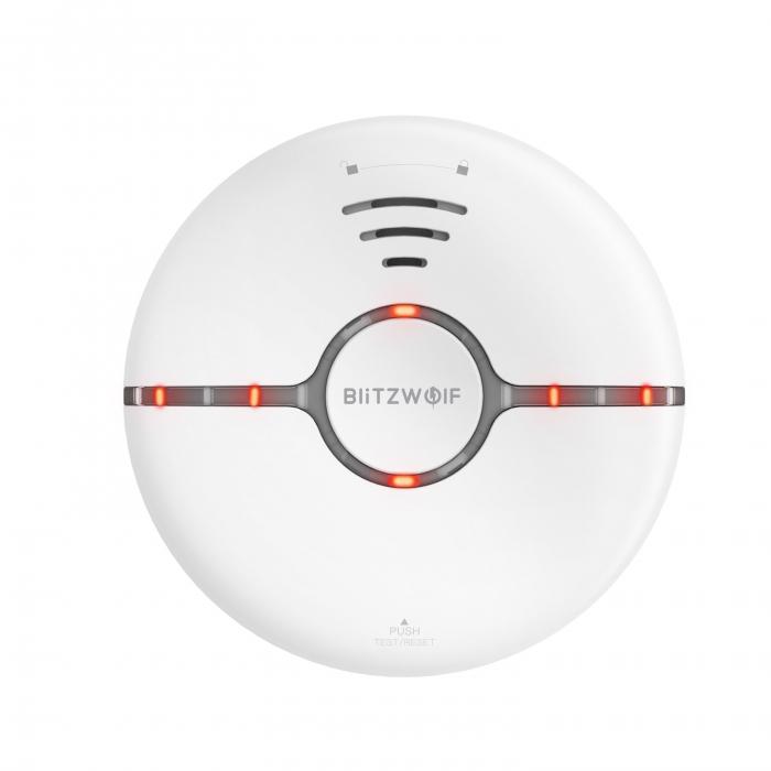 Senzor smart detectie fum Blitzwolf BW-IS7, Wi-Fi, notificari, compatibil ecosistem smart home Smart Life & Tuya, detectie 360° 2