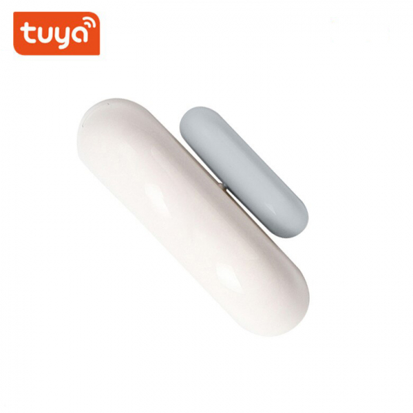 Senzor smart magnetic pentru usi sau ferestre, WiFi 2.4Ghz, compatibil ecosistem Tuya, Smart Life 0