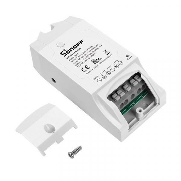 Releu wireless Sonoff TH16, 15A 3500W, pentru automatizare in functie de temperatura sau umiditate 3