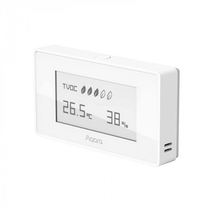 Senzor cu display E-ink Aqara TVOC EU, ZigBee 3.0, monitorizare umiditate, temperatura, calitate aer, compatibil Homekit, Google Home, IFTTT [0]