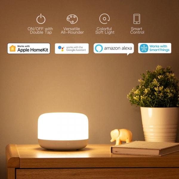 Lampa Yeelight Bedside D2, touch control, Wi-Fi, W-RGB, 5W, compatibila Google, Alexa, Homekit, SmartThings 1