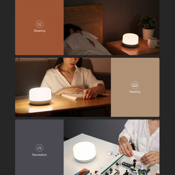Lampa Yeelight Bedside D2, touch control, Wi-Fi, W-RGB, 5W, compatibila Google, Alexa, Homekit, SmartThings 3