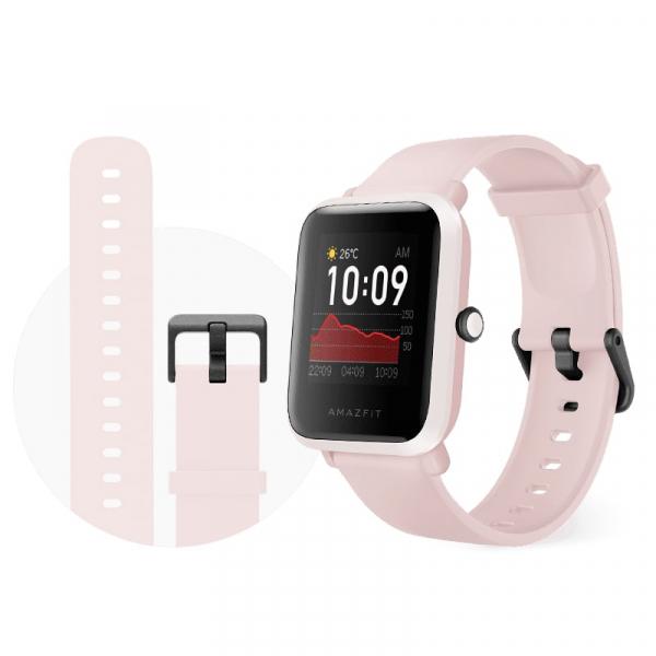 Smartwach Xiaomi Amazfit BIP S, waterproof, 40 zile autonomie, GPS Sony, Biotracker PPG, bluetooth 5.0, warm pink 1