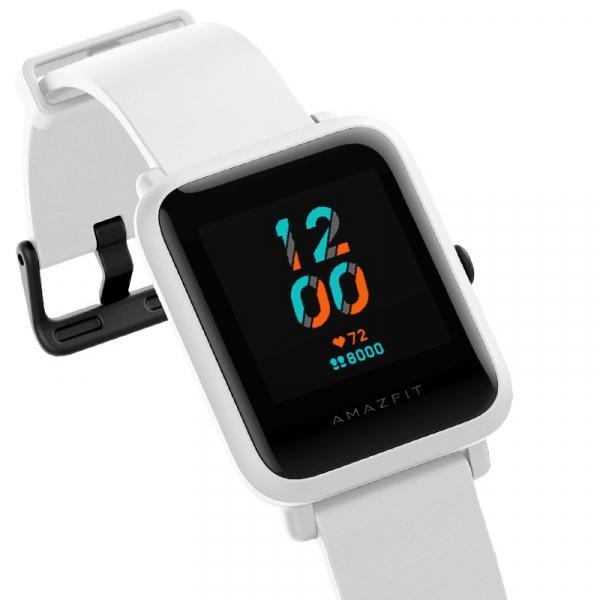Ceas smart Amazfit BIP S 2020, waterproof, 40 zile autonomie, GPS Sony, Biotracker PPG, bluetooth 5.0, alb [1]