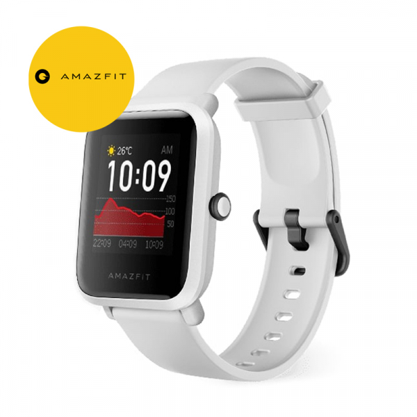 Ceas smart Amazfit BIP S 2020, waterproof, 40 zile autonomie, GPS Sony, Biotracker PPG, bluetooth 5.0, alb 0